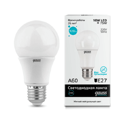 Лампа Gauss Elementary LED A60 E27 10W 4100K